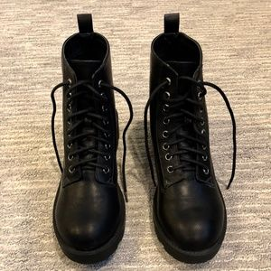 Urban Outfitters Black Combat Boots (NWOT)